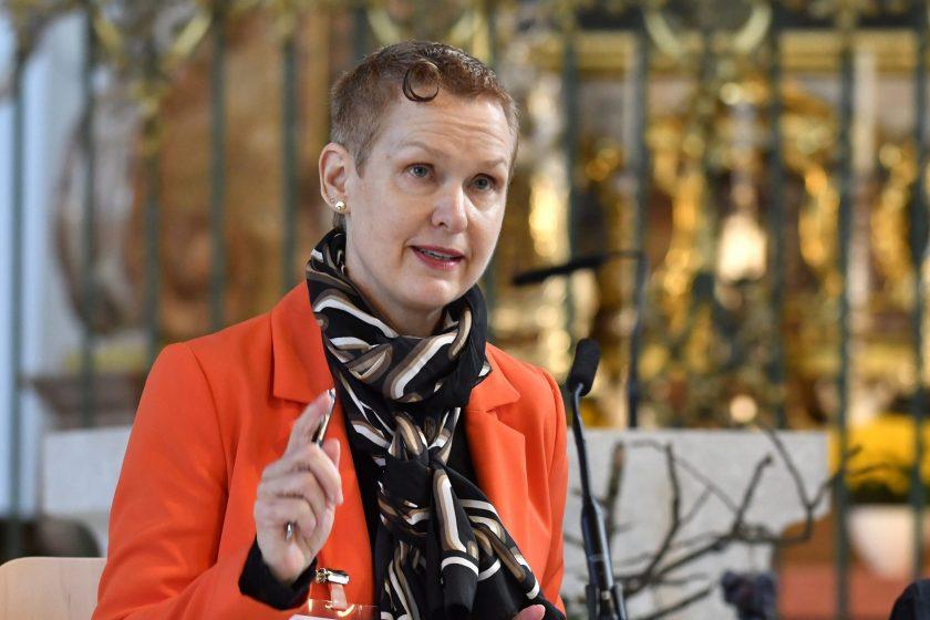 die neu gewählte Präsidentin des Kath. Kollegiums Margrit Hunold-Schoch, Tscherlach (Bild: Regina Kühne)
