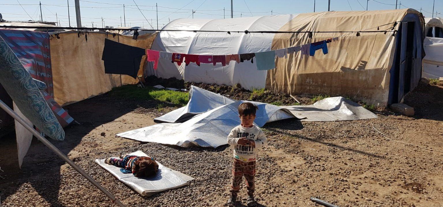 Für das Flüchtlingscamp Sardasht, Sinjar, Nordirak, werden dringend neue Zelte gebraucht. Der Administrationsrat hat dafür einen Beitrag von 20'000 Franken gesprochen. Bild: Nicole Schilling